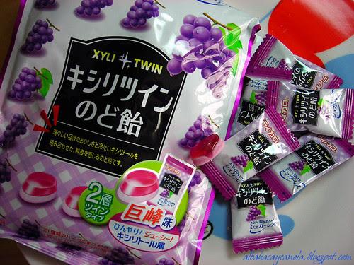 Grape japanese candies