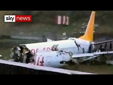 Plane Carrying 171 Passengers Splits Into Three Pieces… After Skidding Off Runway In Istanbul [Photos/Video]