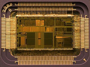 Die of an Intel 80486DX2 microprocessor (actua...