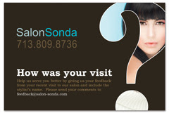 PCS-1057 - salon postcard flyer