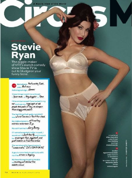 Stevie Ryan Maxim November 2013