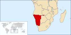 Localização  Namíbia