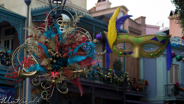 Disneyland Resort, Disneyland, New Orleans Square, Christmas, Mardi Gras, Christmas Time, Masquerade