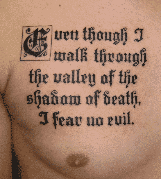 Nice Chest Bible Verse Tattoos Tattoo Bytes