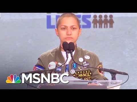 Emma Gonzalez Makes Statement With Silence at March for Our Lives | AM Joy | MSNBC #listentomywhistle