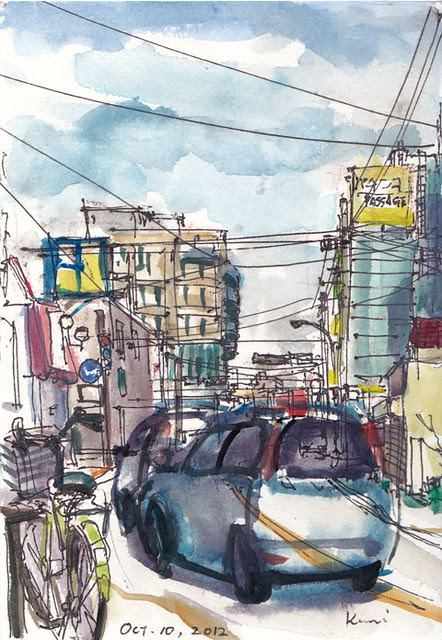 a street view near Tsuruma station