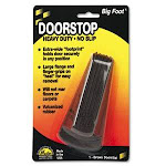 Master Caster Big Foot Doorstop, No-Slip Rubber Wedge, Brown (MAS00920)
