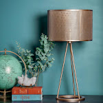 Fortify Mesh Shade Table Lamp - Gold