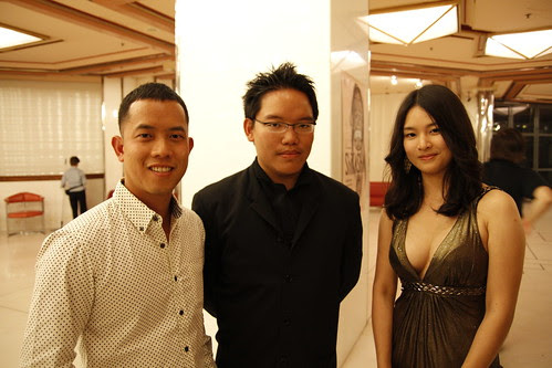 Ming Jin, me and Fooi Mun, just before The Tiger Factory screening