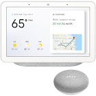 Google Home Hub with Google Assistant & Google Home Mini Home Smart Speaker (Chalk)