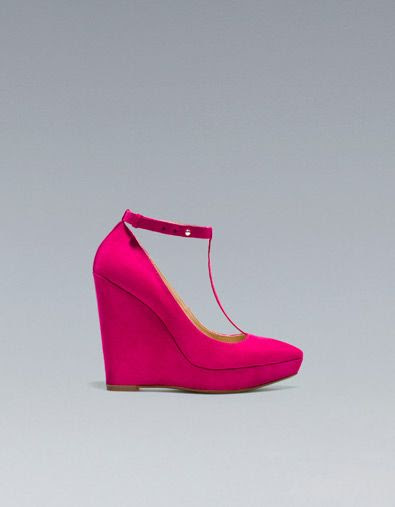 Zara Pointed T-Bar Wedge