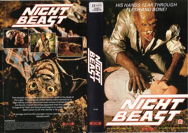 NIGHT BEAST (VHS Box Art)