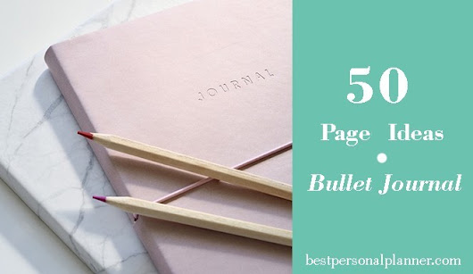 50 Pages Ideas Bullet Journal
