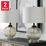Lucca Glass Table Lamp 2-pack