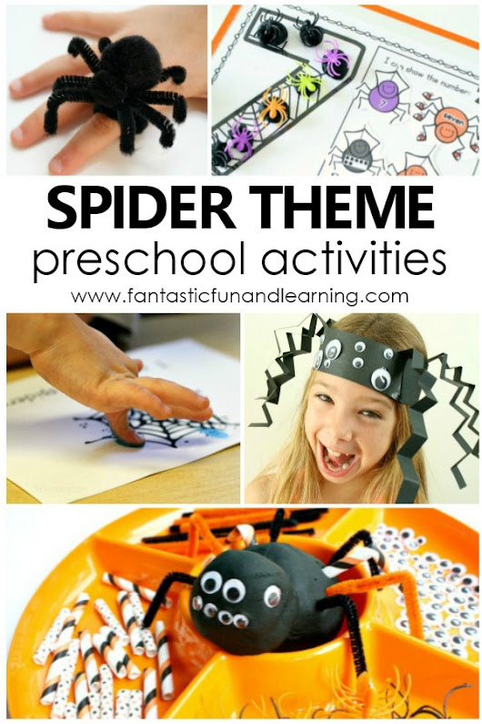 Spider Theme Preschool Activities - Fantastic Fun & Learning