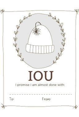IOU Labels - Printable Download -Free Printable