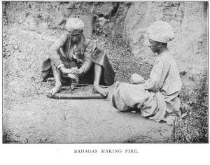 Fire Making by Badagas -1909