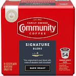 Community Coffee Signature Blend Dark Roast Coffee - Keurig K-Cup Brewer Compatible Pods - 21oz/54ct
