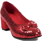 Red Sequin Shoes Women's