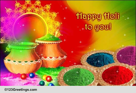Happy Holi To You And Your Family.
