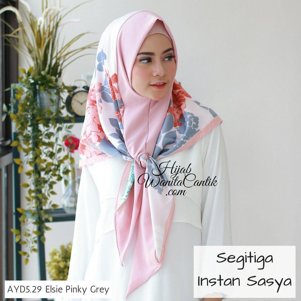 hijab tutorial segitiga instan sasya originalhijab wanita cantik