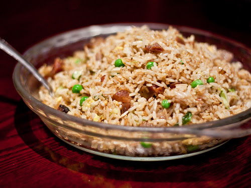 Char siu pork fried rice (叉燒炒飯)