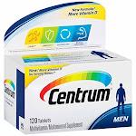 Centrum Men (120 Count) Multivitamin / Multimineral Supplement Tablet, Vitamin D3