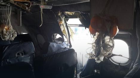 Deo trupa sa desne strane potpuno je uništen nakon eksplozije