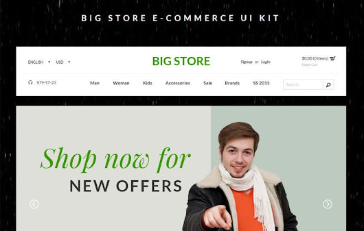 Big Store Ecommerce UI Kit Bootstrap Responsive Web Template - w3layouts.com