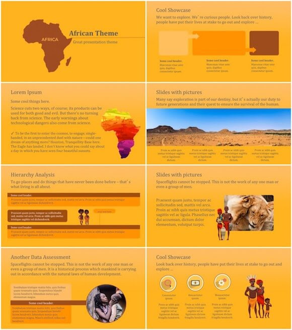 Africa Powerpoint Template Free