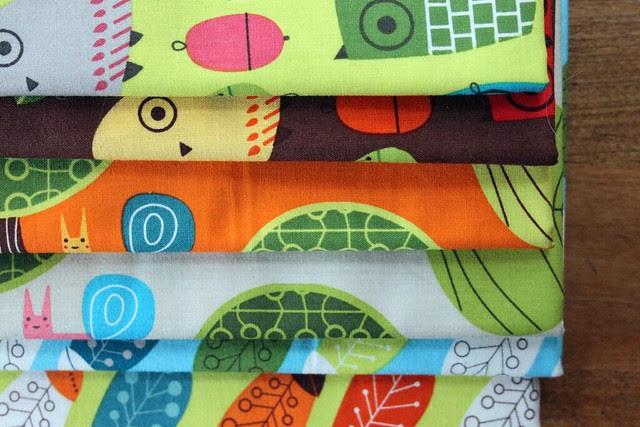 Fall Owl Tote Fabrics
