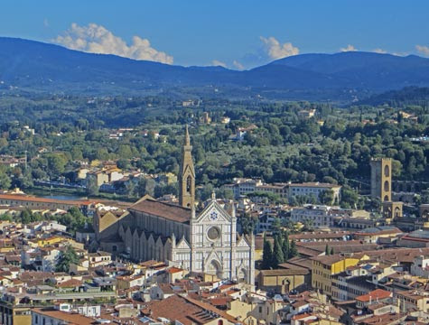 Santa Croce Church - Popular Tourist Attraction in Florence Italy