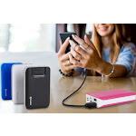 Aduro PowerUp Trio 10,000 mAh SmartCharge Dual USB Backup Battery Black