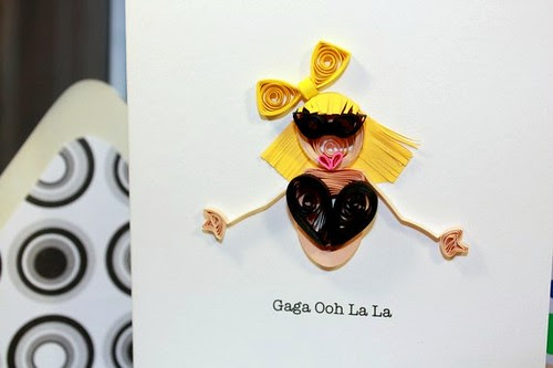 Lady Gaga Quilled Card