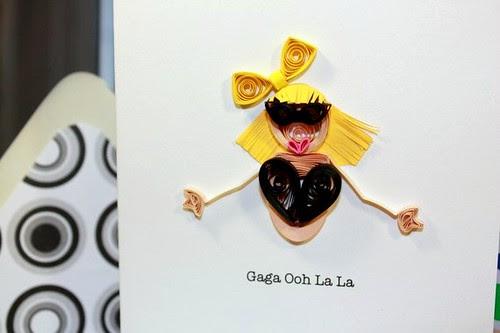 Lady Gaga Quilled Card