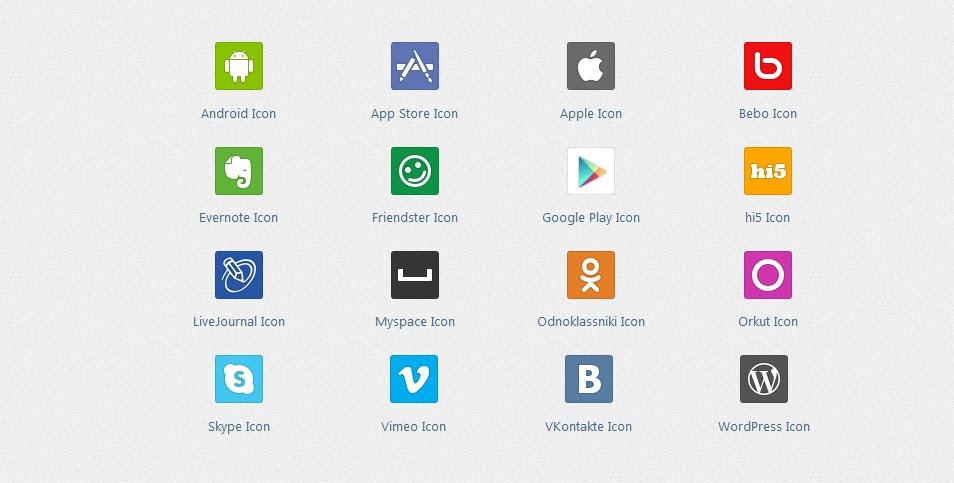 Flat Social Icons 2