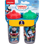 Playtex Sipsters Stage 3 Thomas The Train Insulated Spout Sippy Cups, 9 oz - 2 count