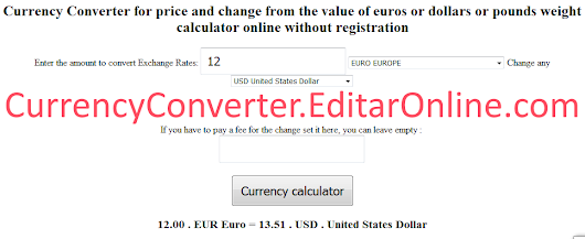 Currency Converter Exchange Rate