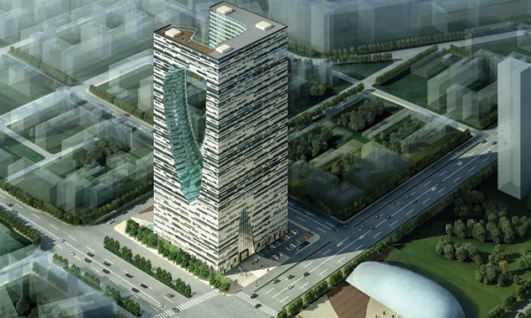 harbin shidai tower 4 600x360 14 Futuristic Building Designs in China