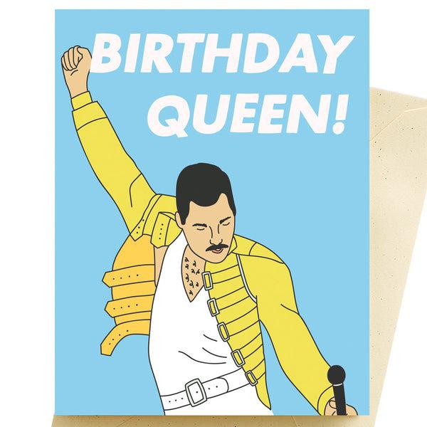 Birthday Queen Freddy Mercury Card by Seltzer Goods - Canada