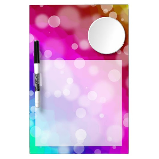 Rainbow Bokeh Pattern Dry Erase Board With Mirror