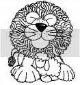 Black and white lion and lamb clipart printable pic.