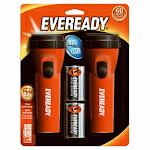 Eveready Evel152s Led Economy Flashlight With Push Button, 2-pack