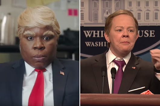 McCarthy returns to 'Saturday Night Live' as Spicer, Baldwin's Trump goes to 'People's Court'