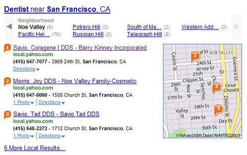 Noe Valley dentist search on Yahoo!