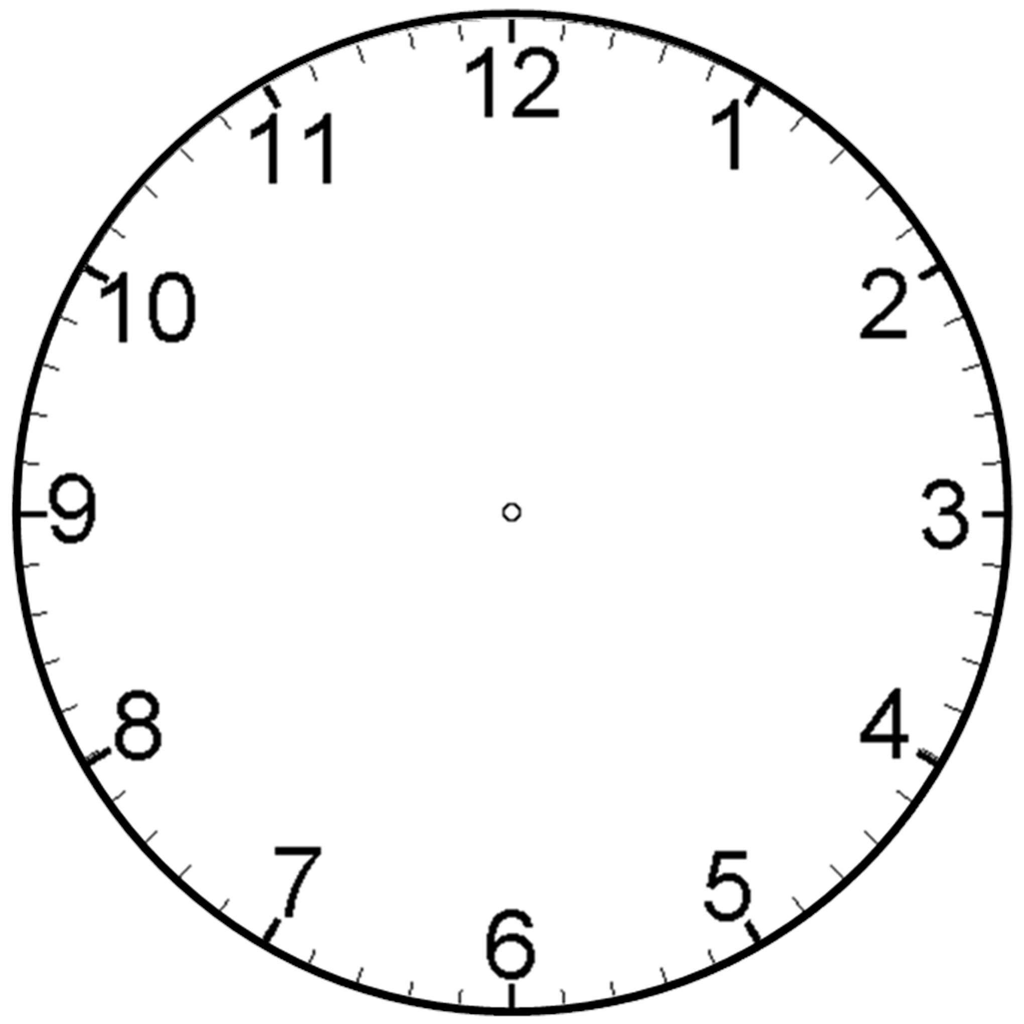Printable Blank Clock Face - ClipArt Best