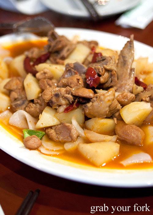 dapan ji big plate chicken at poplar central asian cuisine crows nest