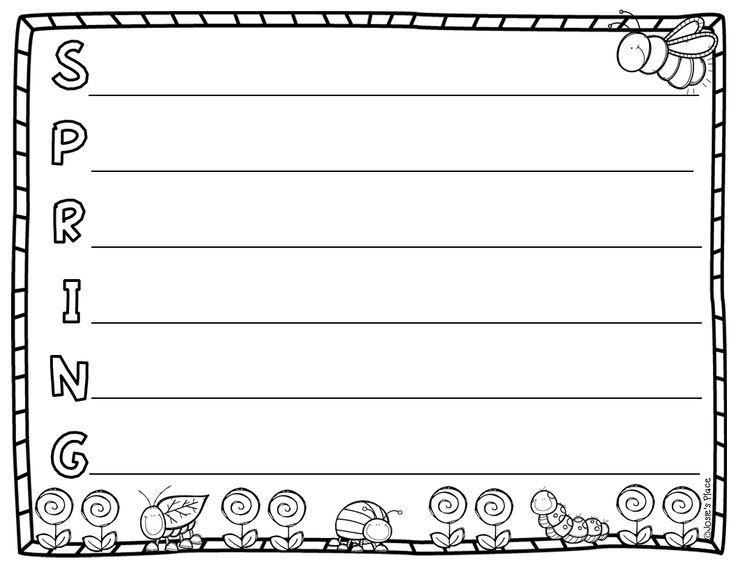 Printable Acrostic Poem Templates for Kids - PDF Format   Second ...