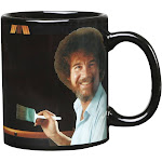 Bob Ross Heat Changing Mug - Ceramic 11 oz. - Painting Color Comes to Life when Hot Liquid is Added
