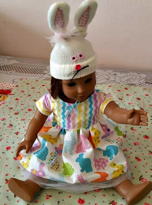 Bunny Dress and Hat Doll Outfit by babymarbles on Etsy